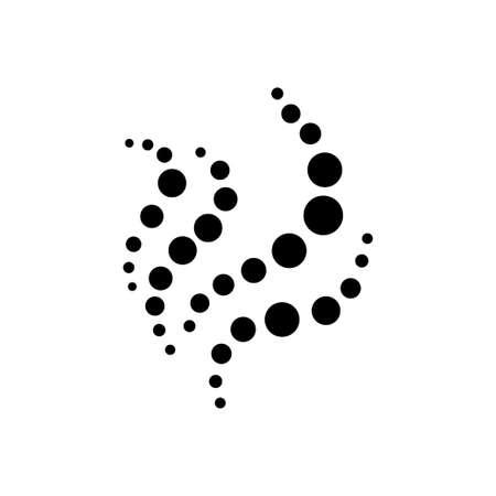 silhouette abstraite de cercles noirs