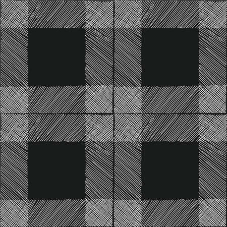 tartan seamless pattern black white checkered plaid