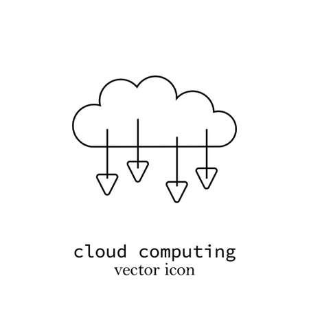 a cloud computing minimal line vector sign