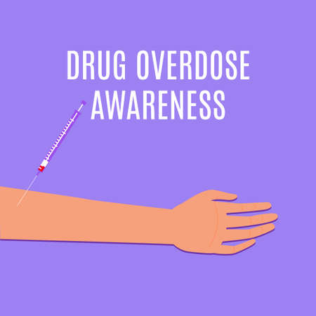 drug overdose awareness day with an arm and a syringe