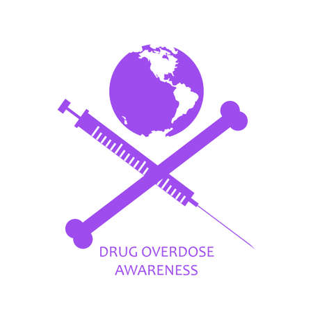 Drug overdose awareness concept