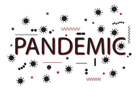Pandemic word epidemic outbreak coronavirus vector pattern