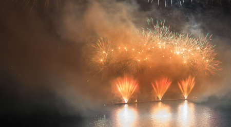 Firework on a lake