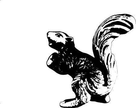 Curious Squirrel 向量圖像
