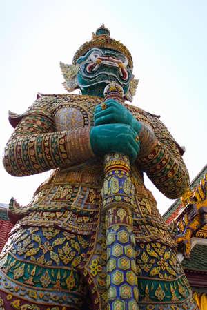 titan: Titan in Wat Pra Kao Bangkok Thailand Stock Photo