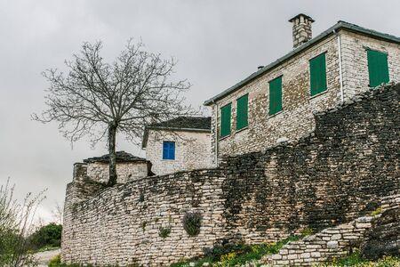 Traditional stone house in Monodendri, Zagoria, Greece