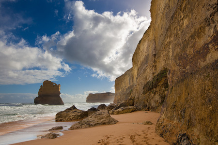 rock formation: One Apostle of the famous twelve Apostles rock formations on the Great Ocean Road, Victoria, Australia
