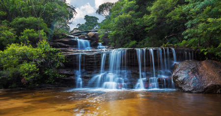 cascade: Wentworth falls, upper section Blue Mountains, Australia.