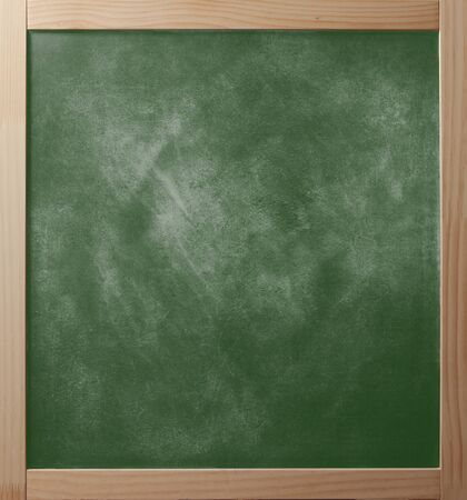 greenboard: School greenboard in wooden frame. Stock Photo