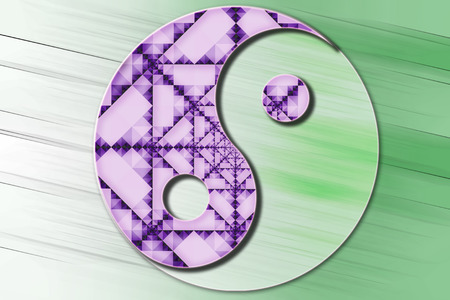 daoism: Stylized Yin Yang symbol in color. Stock Photo