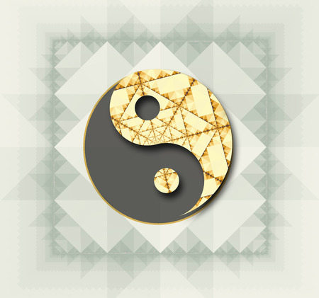 tao: Stylized Yin Yang symbol in color. Stock Photo