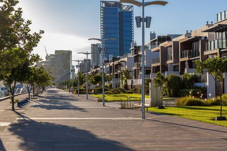 docklands: Docklands, Melbourne promenade at sunrise