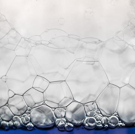 Elegant hexagon pattern - soap bubbles extreme closeup