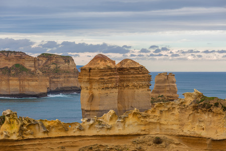 Razorback rock formation closeup - Great Ocean Road, Victoria, Australia Stock Photo
