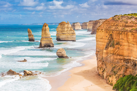 Twelve Apostles rock formations, Great Ocean Road, Victoria, Australia Stock Photo - 79713409
