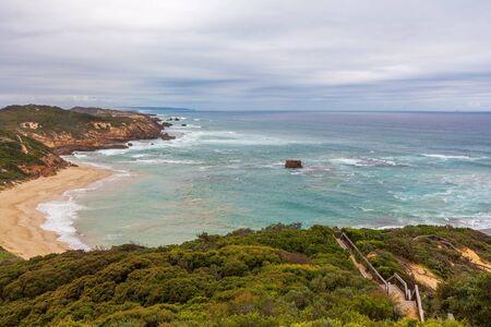 poblíž: Mornington poloostrov oceán pobřeží poblíž Sorrento Ocean beach za soumraku. Mornington poloostrov, Melbourne, Austrálie