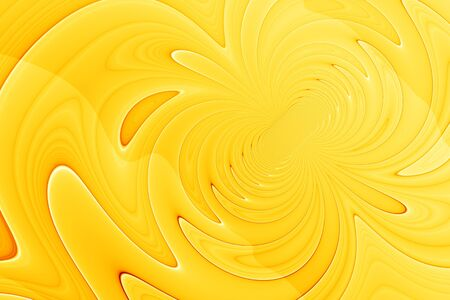 Abstract background - digital painting with abstract curved lines in orange and yellow colors Stock Photo