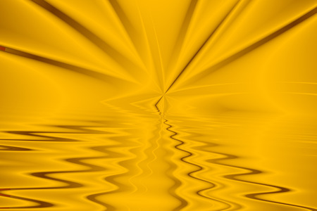 Yellow star emerges from infinity pool with waves and ripples
