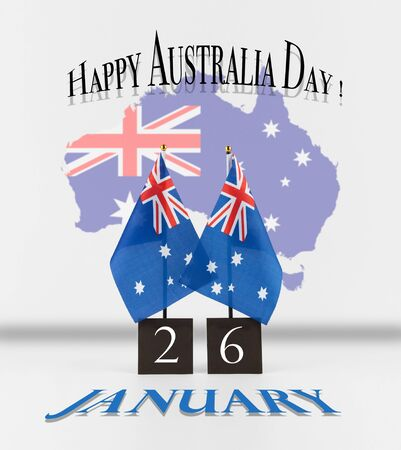 Australia day greetings two australian table flags with date australia day greetings two australian table flags with date and map of australia australian m4hsunfo