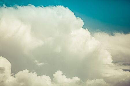 Beautiful white clouds after storm in the skay with copy space