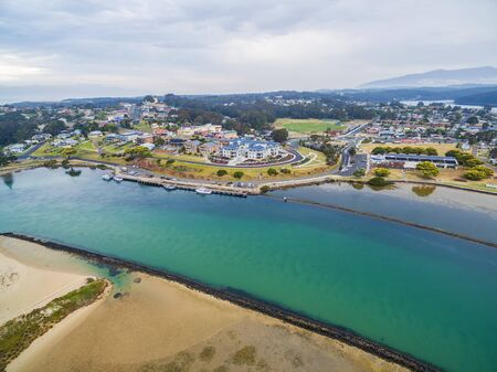 Aerial view of luxurious homes at Narooma, NSW, Australia