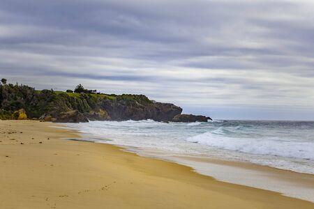 Typical ocean beach landscape in Australia Stock Photo