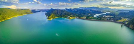 Beautiful Lake Eildon in Australia - scenic aerial panorama Banco de Imagens