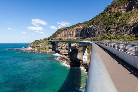 Sea Cliff Bridge - most prominent landmark on Grand Pacific Drive in New South Wales, Australia Stock Photo