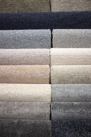 Many floor carpet samples patterntexture closeup