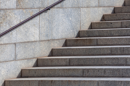 Granite staircase - city architecture closeup