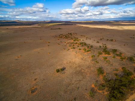 Vast desert plains of South Australia - aerial view