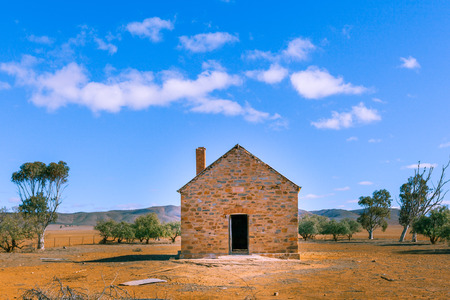 Old home ruins in Australian Outback