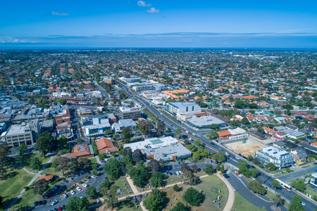 Oakleigh suburb residential area - aerial view Banque d'images - 117898818
