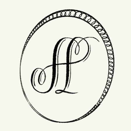 Elegant monogram design - letter A Stock Photo