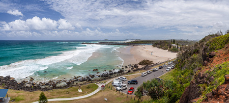 Panorama of Duranbah Beach from Lovers Rock Park in Tweed Heads, New South Wales, Australia 写真素材