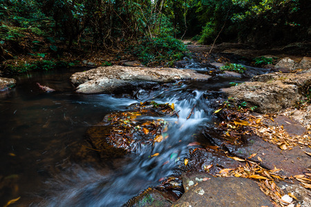Small waterfall on Morans Creek in Lamington National Park, QLD, Australia Stock Photo