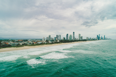 Aerial landscape of Gold Coast in Queensland, Australia