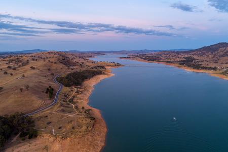 Australian countryside and lake at dusk 写真素材
