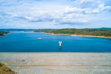 Cardinia Reservoir aerial view in Emerald, Victoria, Australia