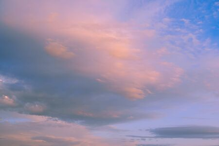 Beautiful sky with clouds at sunset - full frame image of sky