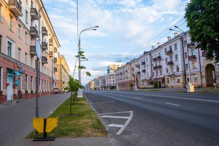 Lenin Avenue in Gomel, Belarus