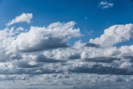 White beautiful clouds in the blue sky background Stockfoto