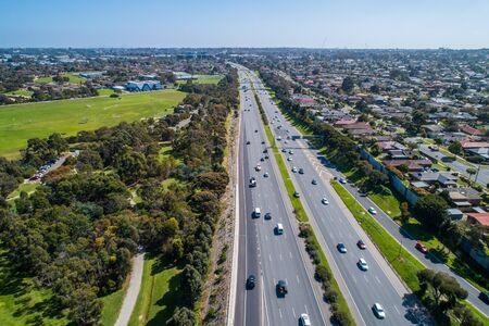 Aerial view of Monash Freeway in Melbourne, Australia Stockfoto