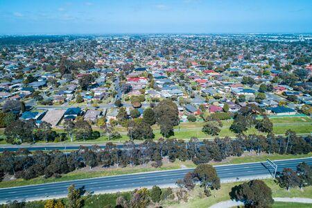 Mulgrave suburb in Melbourne, Australia - aerial view