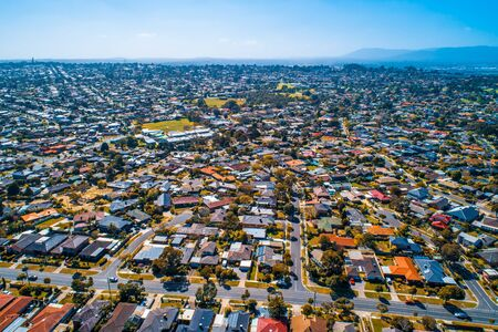 Wheelers Hill suburb in Melbourne, Australia - aerial view