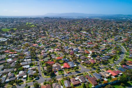 Aerial view of Wheelers Hill suburb in Melbourne, Australia