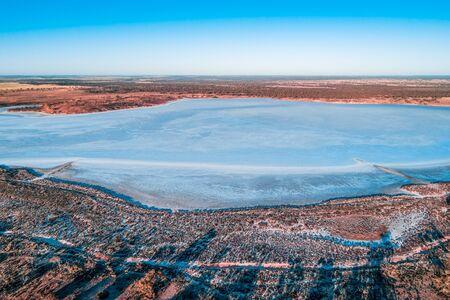 Lake Crosbie in Murray-Sunset National Park in Australia Stockfoto