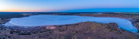 Salt Lake Crosbie - aerial panorama at dawn