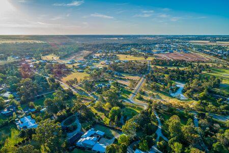 Aerial view of Moama, NSW, Australia