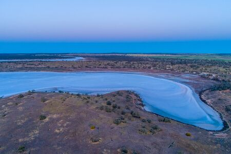 Salt Lake Crosbie - aerial view at dawn